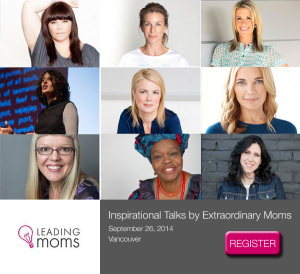 Leading Moms Speakers poster