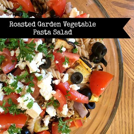 Recipe: Roasted Garden Vegetable Pasta Salad - Bits of Bee
